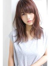 ロゼ 石橋(Rose)【Rose】ラベンダーピンク×ニュアンスセミロング★★