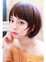イロドリ ヘアーデザイン(IRODORI hair design)IRODORI 斜めバングのショートボブ2 [西尾一寛]