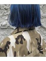 ピープル(people)[people]ぱっつんボブと深めのブルーカラー
