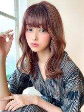アフロート ディル(AFLOAT D'L)AFLOATeri韓国風ヘア ヨシンモリ 透明感カラー セミロング髪型