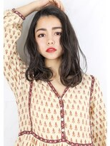 ヘアサロンガリカアオヤマ(hair salon Gallica aoyama)☆ 外国人風 & ダメージレスパーマ ☆ くせ毛 semi-long☆