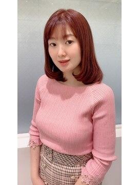 六本木美容室 白金店春colorピンク