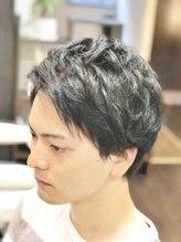 オムヘアーツー (HOMME HAIR 2)#くせ毛を活かす#パーマ風#ミディアム#Hommehair2nd櫻井