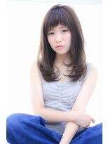 ヘアメイク シュシュ(Hair make chou chou)ワンカールレイヤー×オン眉バング【chou-chou 北林夏実】