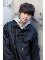 【abiquiu】黒髪ソフトツーブロックパーマクールマッシュ