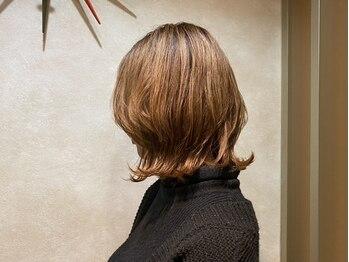 ミュー 北仙台(mieux)の写真/《北仙台駅前》髪や頭皮にも優しい商材を取り扱い◎大人女性のための洗練されたデザインカラーをご提案♪