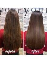 高濃度水素 髪質改善 ストレート 酸熱トリートメント