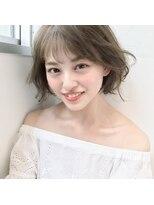 LIPPS銀座 蓑田朝菜 外国人風透明感カラー小顔ショートボブ