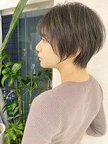 ロンド 表参道店(Lond)【津賀雅也】ゆったりとしたショートボブ 黒髪