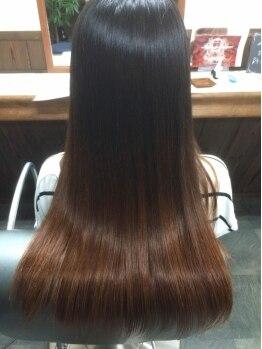 """和み。KAMIBIYORIの写真/""""和""""の成分にこだわったオーガニックシンタで指通り滑らかな理想の質感を実現!繰り返す毎に艶めく美髪へ◎"""