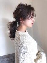 ヘアメイク シュシュ(Hair make chou chou)ローポニーヘアアレンジミディアム【chou-chou 北林夏実】