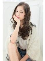 【Gree小川真由美】ウェービーロング☆グレージュ☆アッシュ