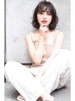 Lien☆美髪ダークブランジュ小顔ウェットパーマスタイル立川
