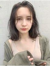 エムクランメイクス 原宿 表参道(m.clan MAKE'S)【松尾】大人かわいい 抜け感 ロブ シースルーバング 前髪