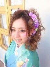 フラット(flat)卒業式 袴アップスタイル