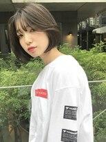 【SHUN】韓国風グレージュワンレンボブ#クラシカル#タンバルモリ
