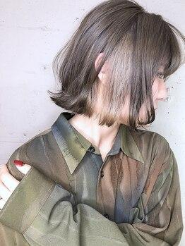 サロウィン 池袋(SALOWIN)の写真/【カット+Wカラー+TR¥13000~】豊富なアレンジで赤み/黄色みをカバー!透明感輝く外国人風hairが叶う♪