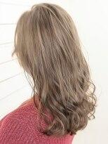 オーブ ヘアー レーン 滋賀草津店(AUBE HAIR lean)【AUBE HAIR】ライトクリアベージュ_フリンジセミロング