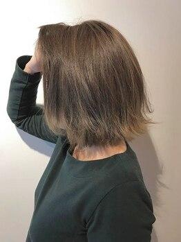 ブルー(Blue)の写真/【自由自在!】繰り返しカラーしてもOK♪髪と地肌に優しいグレイカラー。豊富なカラーバリエーションが◎