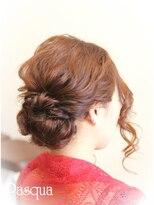 ヘアセットサロン パスクア(Hair Set Salon Pasqua)ゆるだんごスタイル