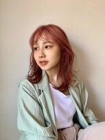 フラム(fulam)スモーキーなピンクカラーが可愛い☆ミディアムスタイル
