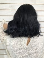 ビーヘアサロン(Beee hair salon)【渋谷エクステ・カラーBeee/安部 郁美】ネイビーブルー