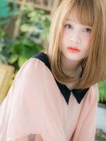 ■bliss上尾13-10★■ハイトーンx斜めバング ドーリーストレ-ト