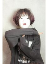 コマ(coma)【coma中野】ピンクアッシュグラデーションボブ 丸みショート