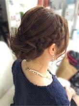ノールス(hair make salon NORLUSS)パーティーヘアセット