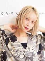 レイズ 立川(RAYS)【RAYS/金本】ミニボブ×ハイトーンカラー