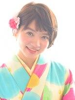【ショートヘアーの袴ヘア】卒業式の着付け&ヘアアレンジ♪