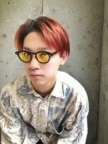 ラグシス(LUXIS)【LUXIS/立川】90'sセンターパート×赤オレンジカラー