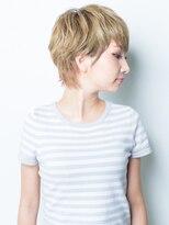 ソフトヘアカッターズ(soft HAIR CUTTERS)大人可愛い30代人気♪オレンジインナーカラー×ハンサムショート