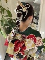成人式ヘア【編みおろし】
