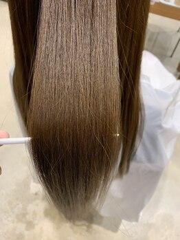 """グミヘアー(gumi HAIR)の写真/「髪へのやさしさ」にこだわった薬剤でダメージをケア♪""""傷んでから""""だけでなく""""傷ませない""""ための予防を◎"""