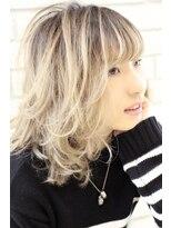 ヘアーグランデシーク(Hair Grande Seeek)人気の外国人風ホワイティーグラデcolor♪