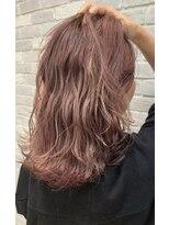 ヘアメイク アプト モカレーベル(HAIR MAKE apt mocalabel)ピンクベージュ