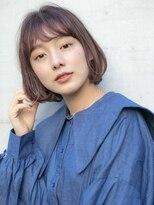 ヘアサロン ガリカ 表参道(hair salon Gallica)《SAKI》小顔アンニュイbob ☆ ショコラブラウンcolour