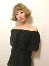 ディーカヘアーセンダイ(Di KA HAIR sendai)ベージュカラー × 切りっぱなしタンバルモリ