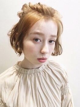 エムサロン(emu salon)の写真/赤みを抑えた外国人風抜け感カラーが安定の可愛さ!emusalonのテクニックならカラーだけで立体感を演出☆