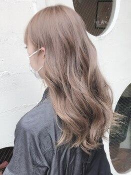 タウ(TAU)の写真/話題のオイルカラー【iNOAカラー】取り扱い!ダメージレス×奥深い透明感!思わず触りたくなる艶髪が叶う♪