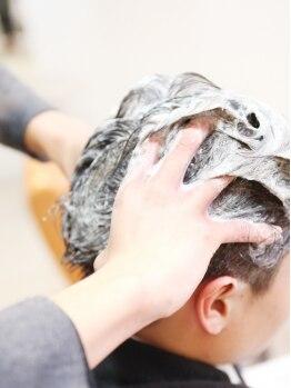 バングスラボ(bangs LABO)の写真/リラクゼーションMenuで癒しの時間を♪炭酸スパとのセットメニューも人気!頭皮と髪を同時にケア◎
