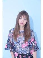 ジーナシンジュク(Zina SHINJYUKU)☆Zina☆透けバング×無造作ストレート