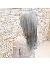 アロマ ヘアー ルーム 新宿店(AROMA hair room)外国人風ホワイトブリーチ アッシュグレージュ バレイヤージュ
