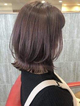 ファースト 郡山店(first)の写真/髪に『潤い』と『ツヤ』を与え透明感溢れる質感を叶えてくれる。手触りが気持ち良くまとまるヘアにー