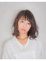 ムード 金沢文庫 hairdesign&clinic mu;d肩上ロブ×ウェーブ