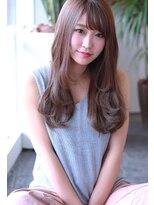 【Creo】ピンクベージュ×シルキーウェーブ#小顔#前髪