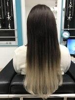 マーメイドヘアー(mermaid hair)グラデーションエクステ細め40本☆