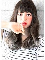 ヘアサロン ガリカ 表参道(hair salon Gallica)『 プラチナグラデーション × 無造作 』 外国人風 semi-long☆