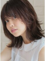 キース ヘアアンドメイク(kith. hair&make)恵比寿kith.本田×ウルフカールセミディ